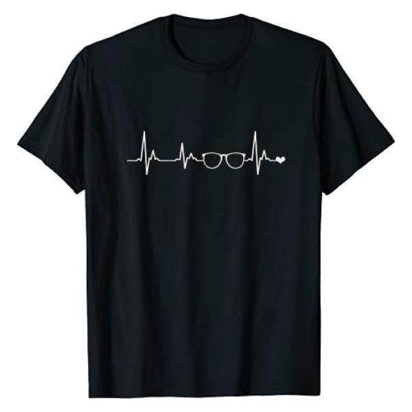 Funny Optometrist Pun Graphic Tshirt 1 Eyeglasses Spectacles Heartbeat Optometrist Gifts T-Shirt