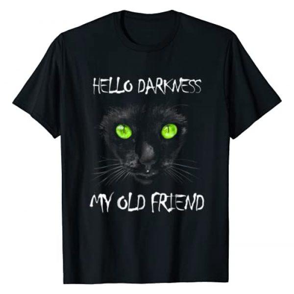 Jaydn Baby LLC Graphic Tshirt 1 Halloween Hello Darkness Black Cat My Old Friend T-Shirt