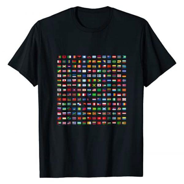 KidsGurus Graphic Tshirt 1 World Flags T-Shirt Cool Travel 210 Flag International Tee