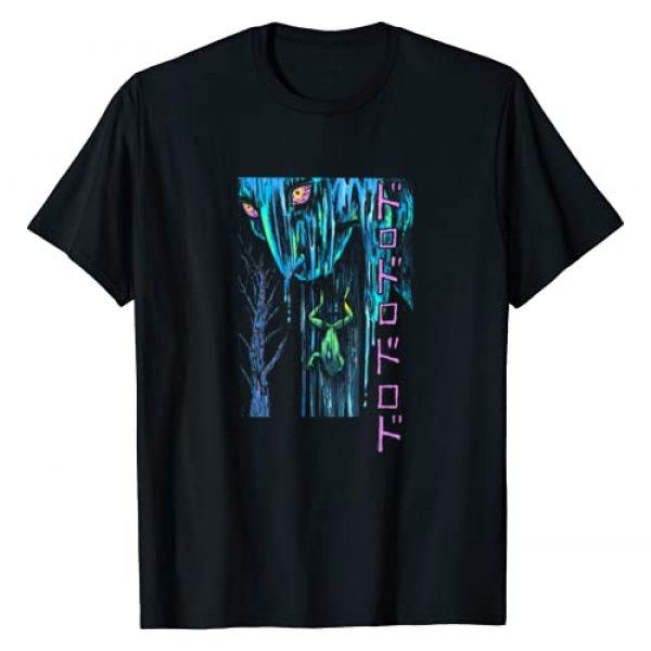 Junji Ito Graphic Tshirt 1 Miss Fuchi Pukes a Frog Back Print T-Shirt