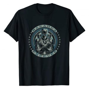 Marvel Graphic Tshirt 1 Black Panther T'Challa Wakanda Forever Black T-Shirt