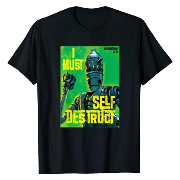 Star Wars Graphic Tshirt 1 The Mandalorian IG-11 I Must Self Destruct T-Shirt