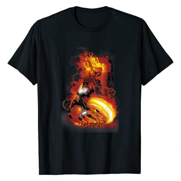 Marvel Graphic Tshirt 1 Ghost Rider Fire Fury Graphic T-Shirt Adult