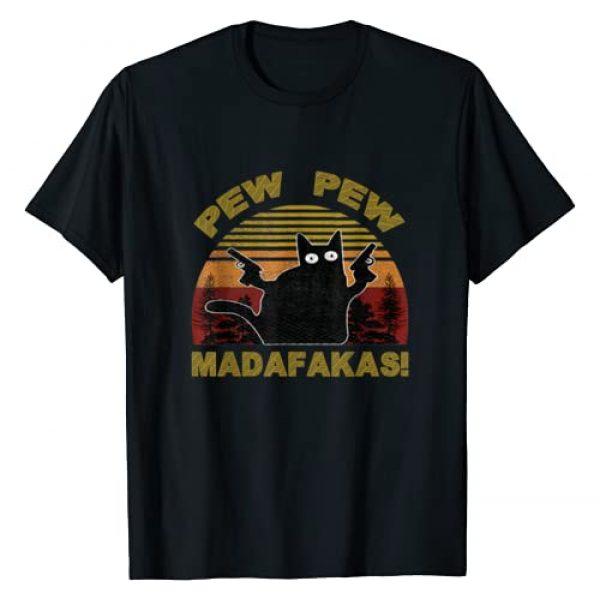 CatCrazyPew Graphic Tshirt 1 Cat Vintage PewPew Madafakas Cat Crazy Pew Funny T-Shirt T-Shirt
