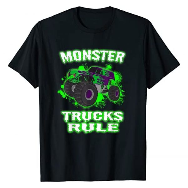 Monster Truck Gifts for Adults and Kids Graphic Tshirt 1 Awesome Monster Trucks Rule for Adults Youth and Toddlers T-Shirt