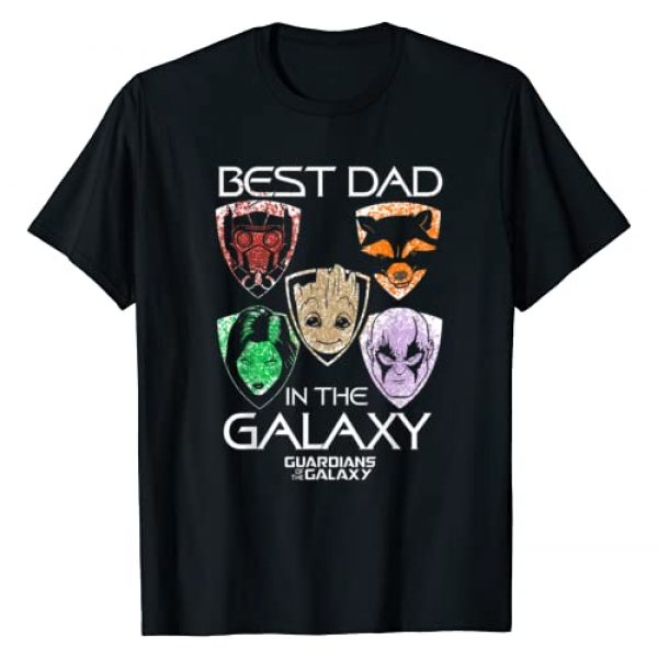 Marvel Graphic Tshirt 1 Guardians Best Dad Father's Day Graphic T-Shirt