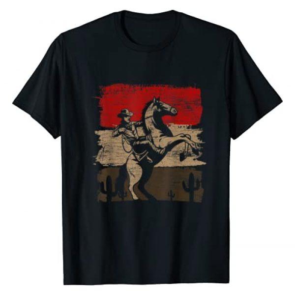 Yeehaw Cowboy Gifts Texas Rodeo Bull Graphic Tshirt 1 Retro Horse Riding Western Cowboy T-Shirt