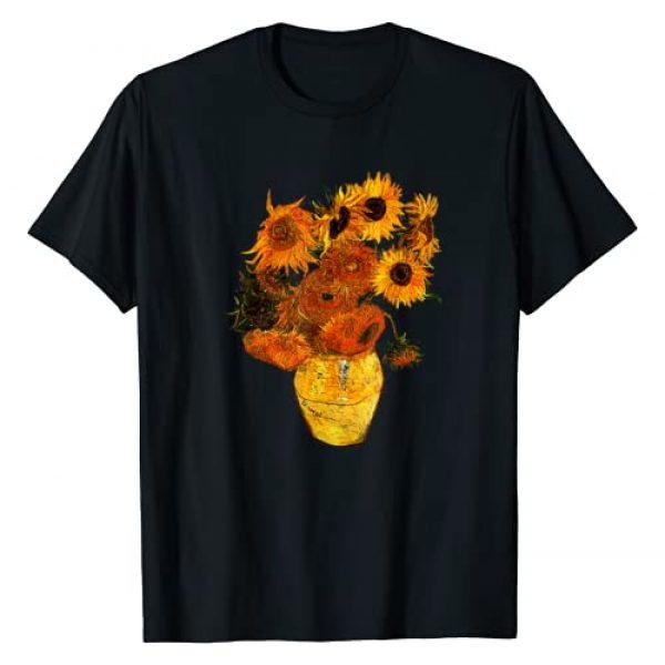 Van Gogh Tee Graphic Tshirt 1 Van Gogh Sunflowers Tee Vintage Yellow Flowers Art Painting T-Shirt