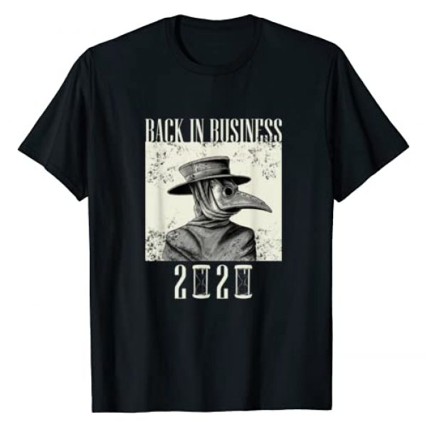 Wash Your Damn Hands 2020 Medieval Vintage Apparel Graphic Tshirt 1 Back In Business 2020 - Plague Doctor Mask T-Shirt