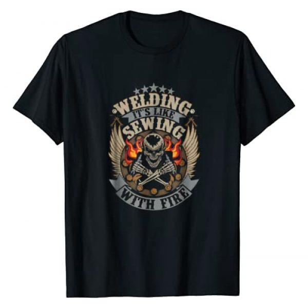 Tee Kaboom! Graphic Tshirt 1 Welding T-Shirt Welding Is Like Sewing With Fire Welder