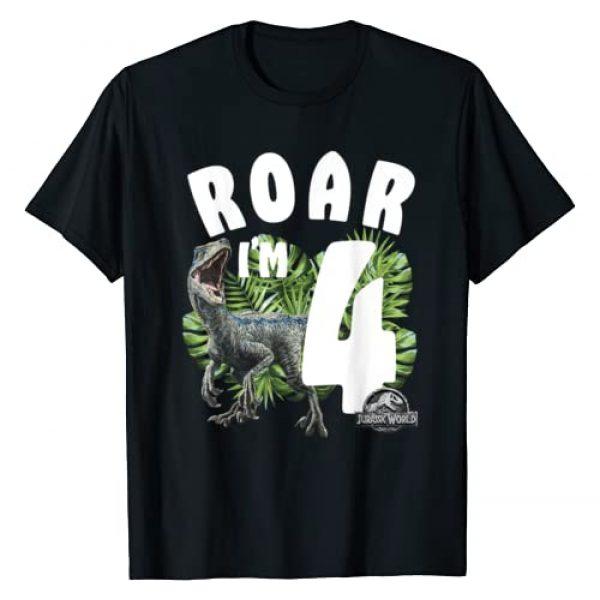 Jurassic World Graphic Tshirt 1 Birthday Raptor Roar I'm 4 T-Shirt