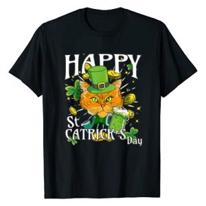 UAB KIDKIS Graphic Tshirt 1 Happy St. Catricks Day Funny St. Patricks Cat Lover T-Shirt