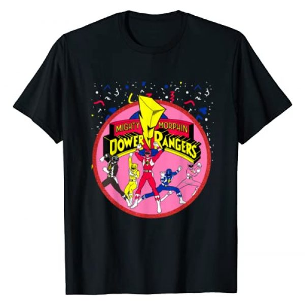 Power Rangers Graphic Tshirt 1 Pink Logo With Group T-Shirt