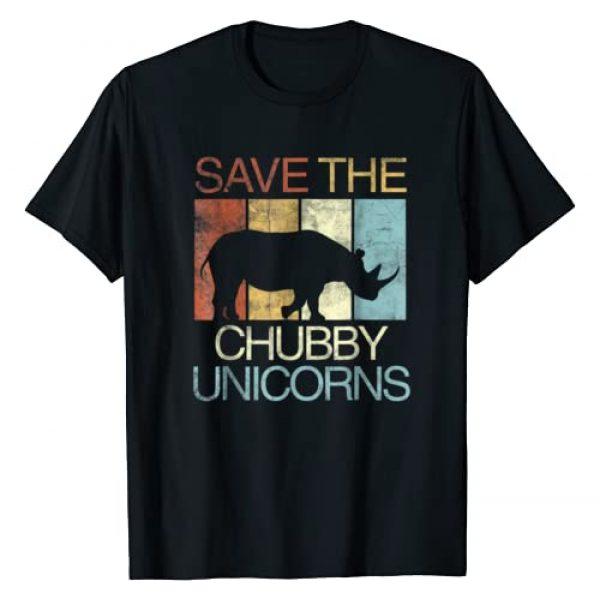 Save The Chubby Unicorns Rhino Tee Graphic Tshirt 1 Save The Chubby Unicorns T-Shirt Retro Vintage Colors