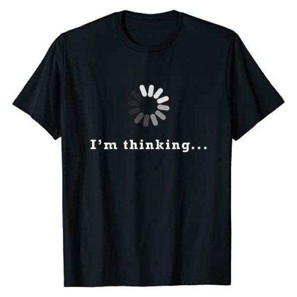Computer Programmer Techie shirt Graphic Tshirt 1 I'm Thinking Geek Nerd Computer Programmer Techie T-Shirt