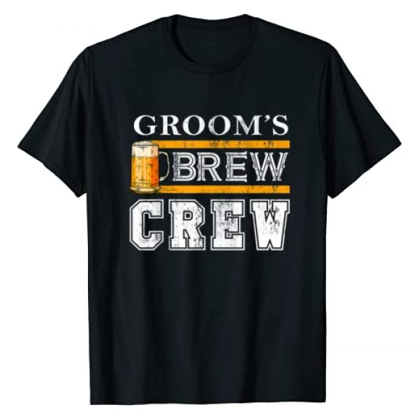 Groom's Brew Crew Funny Groomsmen Bachelor Gift Graphic Tshirt 1 Groom's Brew Crew Funny Groomsmen Beer Team Bachelor Party T-Shirt