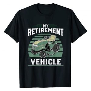 Funny Lawn Mowing Shirts and Gifts Graphic Tshirt 1 My Retirement Vehicle Funny Riding Lawn Mower Retro Dad Gift T-Shirt