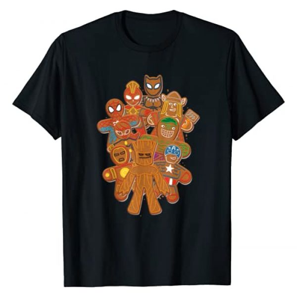 Marvel Graphic Tshirt 1 Avengers Gingerbread Cookie Cluster T-Shirt