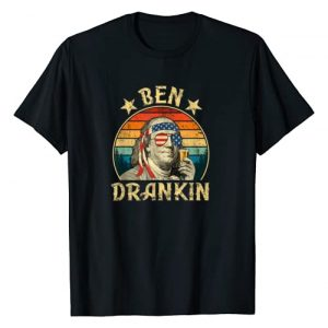 Vintage Ben Drankin Graphic Tshirt 1 Ben Drankin Funny 4th of July Vintage Retro T-Shirt
