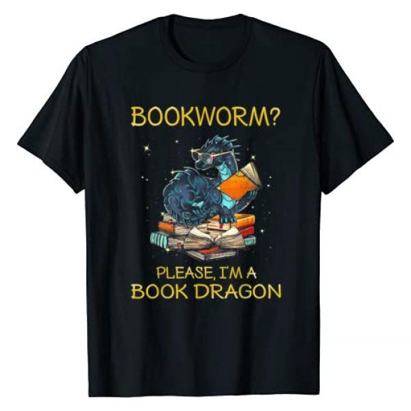 Funny Bookworm Please I'm A Book Dragon Tee Shirt Graphic Tshirt 1 Bookworm Please I'm A Book Dragon T-Shirt