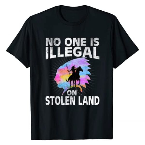 No one is illegal native american shirt and gifts Graphic Tshirt 1 No One Is Illegal Native american Tshirt men women immigrant T-Shirt