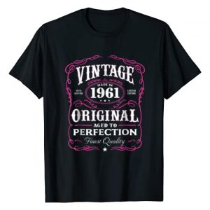 AGED TO PERFECTION Graphic Tshirt 1 Vintage Made In 1961 T-Shirt 57th Birthday Gift