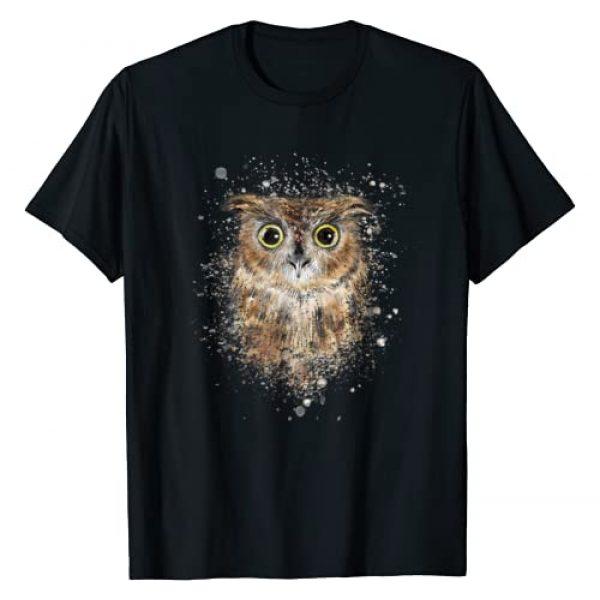 Todo Bien Design Inc. Graphic Tshirt 1 Cute great horned owls artistic tees for women men kids T-Shirt
