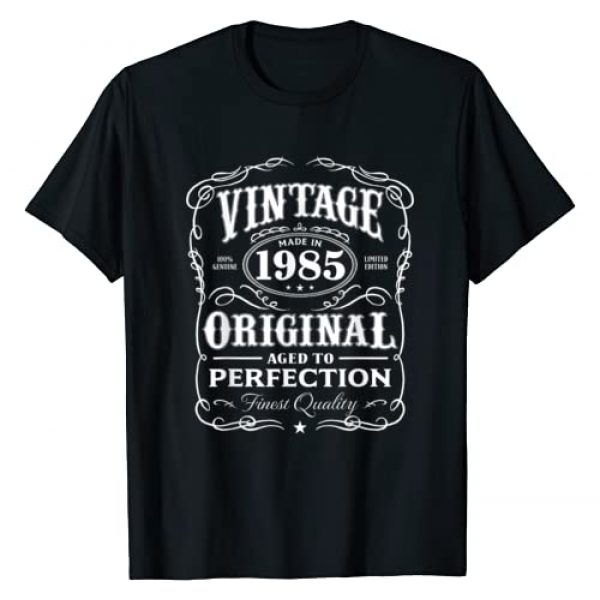 AGED TO PERFECTION Graphic Tshirt 1 Vintage Made In 1985 T-Shirt 33rd Birthday Gift