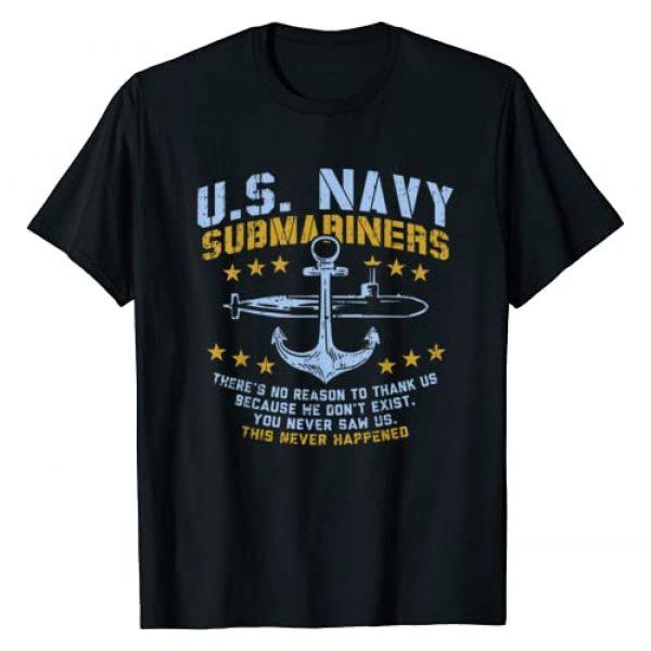 BoredKoalas US Submarine Shirts Navy Veteran Gift Graphic Tshirt 1 US Navy Submariners Anchor No Reason Thank Us Veteran Gift T-Shirt