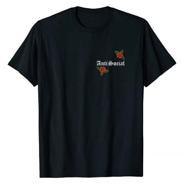 Hikikomori Typography Graphic Tshirt 1 Anti Social Rose Pocket T-Shirt