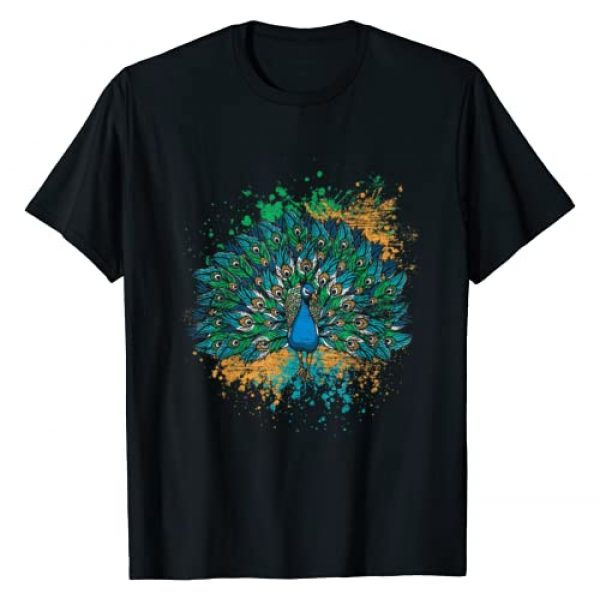 Peacock Quotes Graphic Tshirt 1 Decorative Colorful Tail Peacock T-Shirt