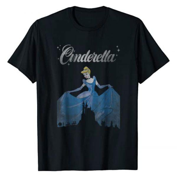 Disney Graphic Tshirt 1 Cinderella Vintage Castle Silhouette Graphic T-Shirt
