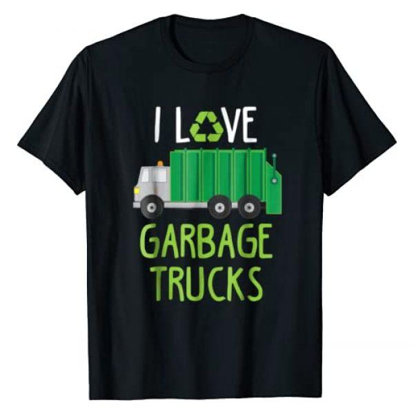 I Love Garbage Trucks Shirt Graphic Tshirt 1 I Love Garbage Trucks T-Shirt Waste Collection Day Kids Gift