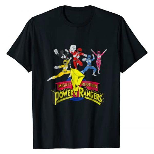 Power Rangers Graphic Tshirt 1 Mighty Morphin Power Rangers Group T-Shirt
