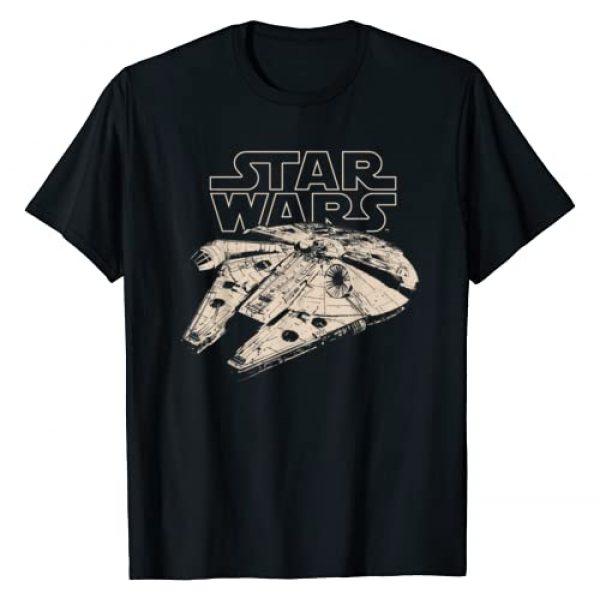 Star Wars Graphic Tshirt 1 Millennium Falcon Graphic T-Shirt