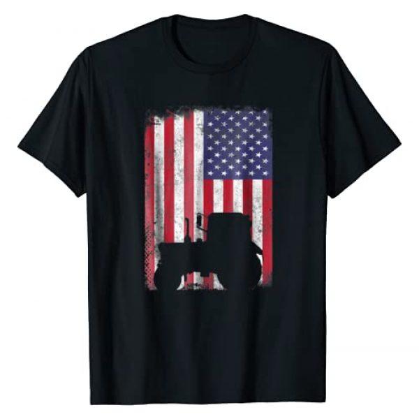 Tractor American Flag patriotic vintage farming Graphic Tshirt 1 Tractor American Flag patriotic vintage farming Tshirt