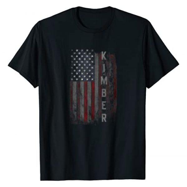 Kimber Family American Flag Graphic Tshirt 1 T-shirt Gift for men