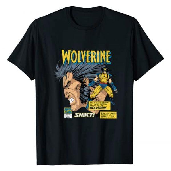 Marvel Graphic Tshirt 1 Comics Wolverine Classic Logan Retro T-Shirt