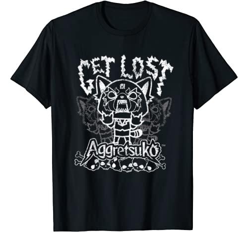 "Aggretsuko Graphic Tshirt 1 ""Get Lost"" Rage Tee Shirt"