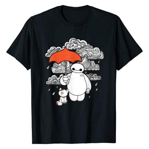 Disney Graphic Tshirt 1 Big Hero 6 Baymax Patterned Rain Clouds Portrait T-Shirt