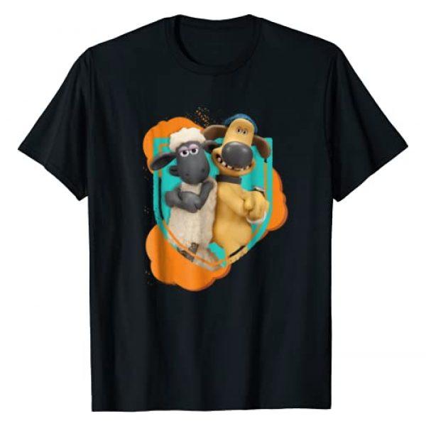 Shaun the Sheep Graphic Tshirt 1 Shaun and Bitzer Best Friends T-Shirt
