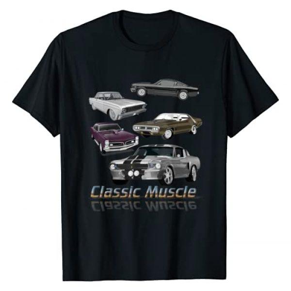 Classic Muscle Race Fans Maximum Horsepower Design Graphic Tshirt 1 Classic American Muscle Cars Novelty T-Shirt