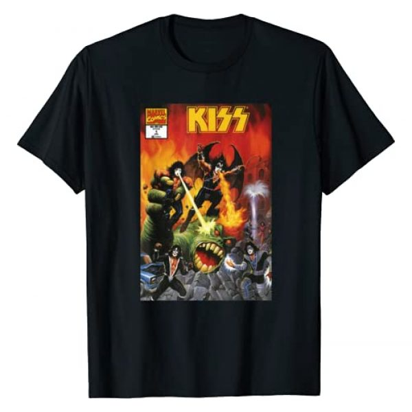 Marvel Graphic Tshirt 1 Mens Marvel | Kiss In The Flames Comic Cover T-Shirt