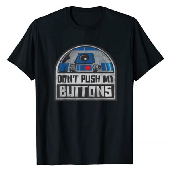 Star Wars Graphic Tshirt 1 R2-D2 Droid Don't Push My Buttons T-Shirt