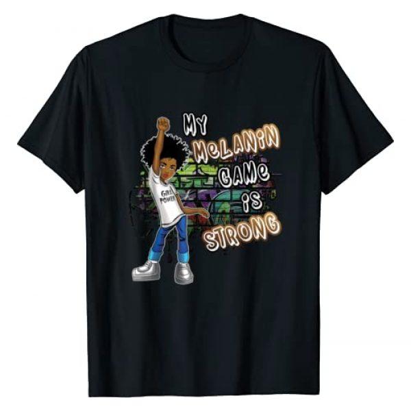 I Am Black History Month Apparel Men Women Kids Graphic Tshirt 1 Phenomenal Woman My Melanin Game Is Strong Black Girl Magic T-Shirt