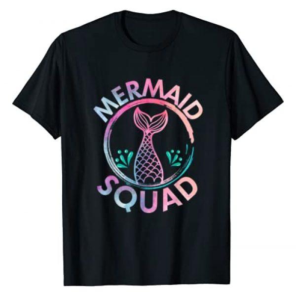 Mermaid Squad Birthday Tees Graphic Tshirt 1 Mermaid Birthday Squad Party T Shirt Gift T-Shirt