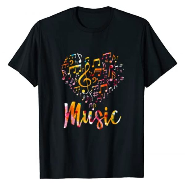 Music Gift Idea Treble Clef Graphic Tshirt 1 Musician Gift Musical Instrument Music Notes Treble Clef T-Shirt