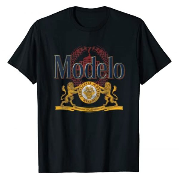 Modelo Graphic Tshirt 1 Cerveza Modelo Classic Distressed Logo T-Shirt
