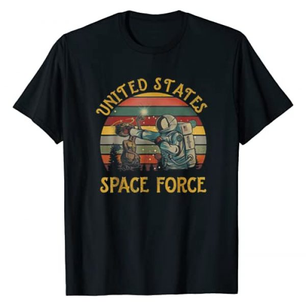 United States Space Force Punch Graphic Tshirt 1 Retro Vintage Sunset Tshirt