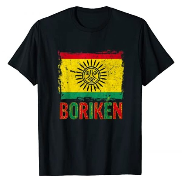 Taino Art Graphic Tshirt 1 Taino Nation Flag Boriken Borinquen Native American Arawak T-Shirt
